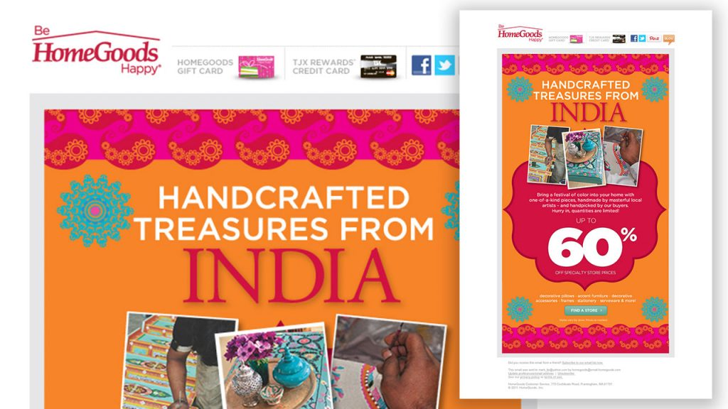 digital Ad campaign Homegoods